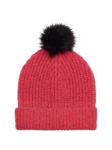 Mohair mix knitted hat