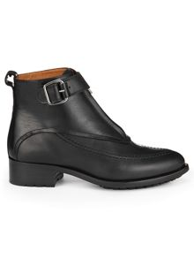 Quin zip front track sole boot