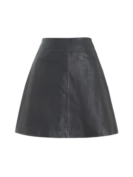 Whistles Leather Aline Skirt