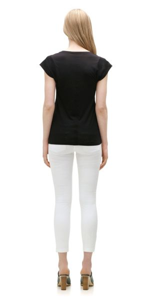 Whistles Faye seam back t-shirt