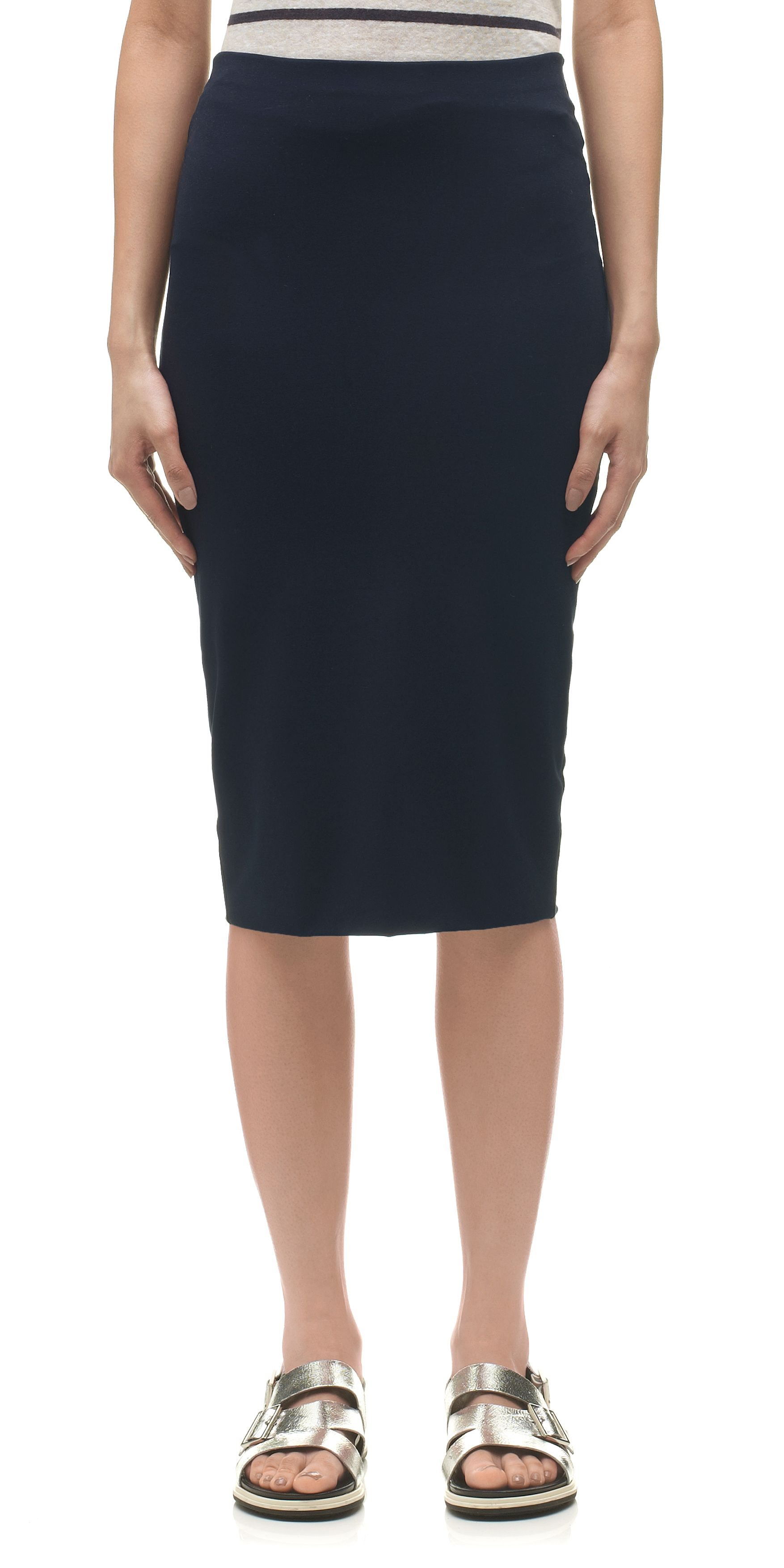 Long Jersey Tube Skirt