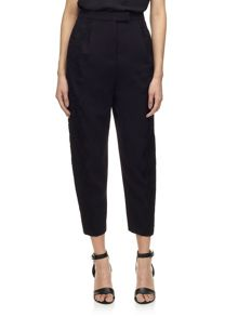 Lace side crepe trousers