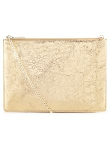 Rivington cracked chain pouch