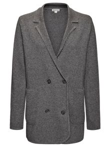 Double Breasted Knitted Blazer