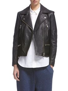 Jett leather biker