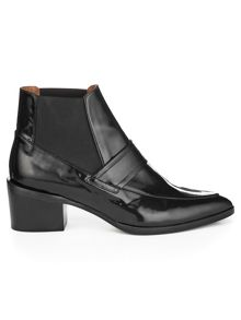 Riley loafer point ankle boot