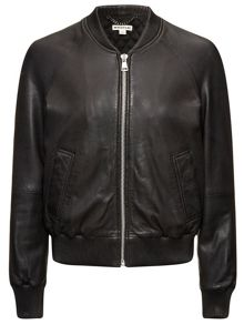 Kay leather bomber