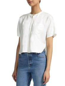 Boxy Linen Pocket Shirt