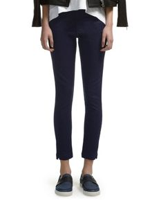 Navy ankle length skinny jeans