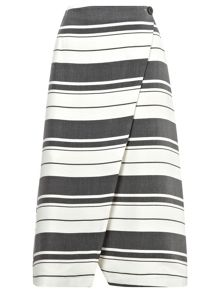 Hayley stripe wrap skirt