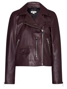 Agnes Leather Biker Jacket