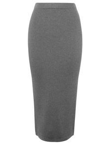 Ribbed Knitted Tube Skirt