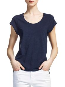 Whistles Faye Marl Seam Back T-shirt