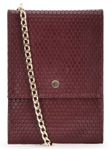 Circle Leather Chain Pouch