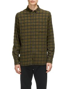 Whistles Essential Pocket Textured Check Shirt