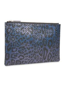 Leopard Snake Small Clutch
