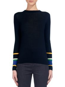Whistles Harrison Stripe Cuff Jumper