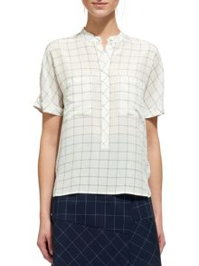 Whistles Sasha Square Check Silk Shirt