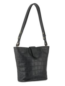 Whistles Varick Croc Bucket Bag