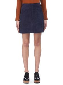Whistles A-line Suede Skirt