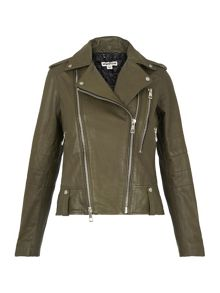 Whistles Payne Leather Biker Jacket