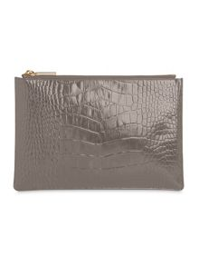 Shiny Croc Small Clutch