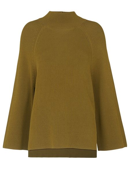 Whistles Rib Mix Cape Sleeve Sweater