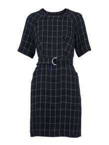Whistles Uma Belted Check Dress