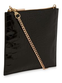 Shiny Croc Perry Chain Clutch