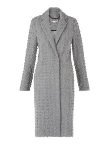 Whistles Textured Wool Mix Coat