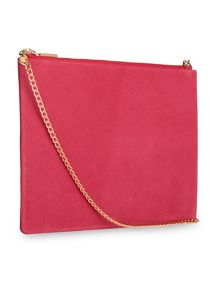 Whistles Suede Rivington Chain Clutch