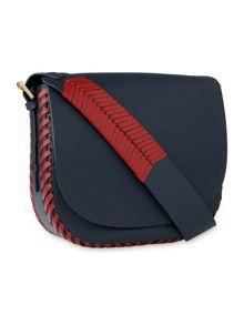Whistles Chase Whipstitch Saddle Bag