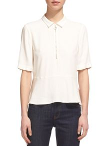 Whistles Zip Front Shirt