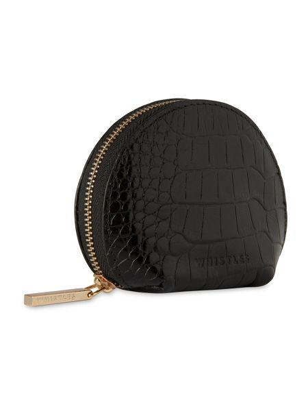 Whistles Structured Croc Coin Purse