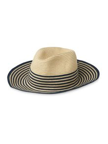 Whistles Summer Stripe Fedora Hat