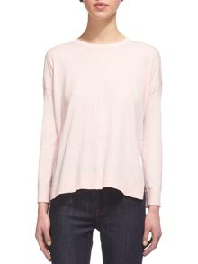 Whistles Rib Hem Long Sleeve T-shirt