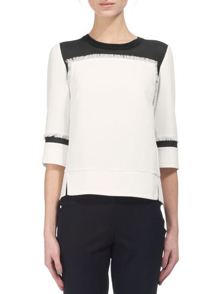 Whistles Fray Detail Top