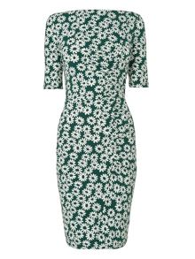 Whistles Daisy Print Jersey Dress
