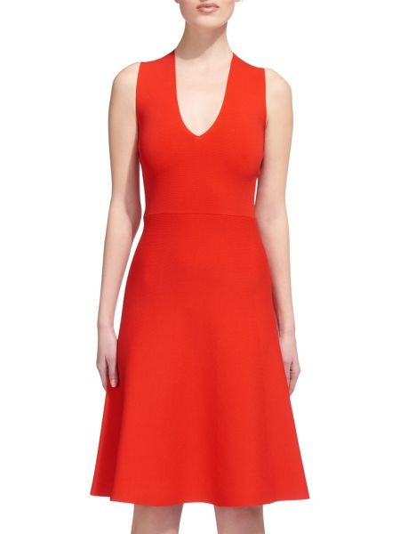 Whistles Cross Back Fit and Flare Dress