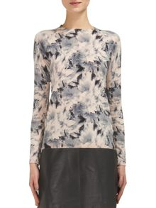 Whistles Suki Floral Crew Neck Knit