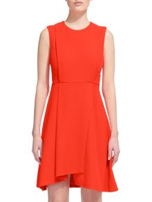 Whistles Textured Asymmetric Hem Dress