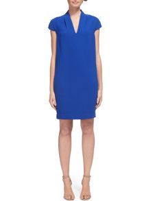 Whistles Paige V-neck Crepe Dress