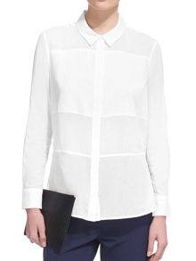Whistles Panelled Voile Shirt