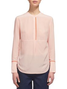 Whistles Tipped Detail Slik Blouse