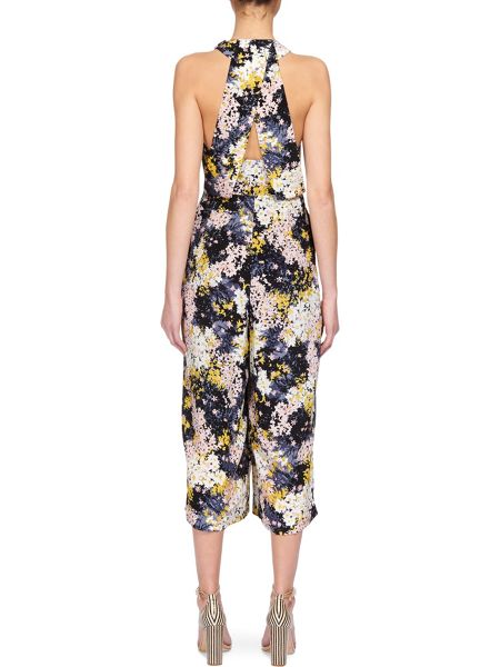 Whistles Wild floral Silk Jumpsuit