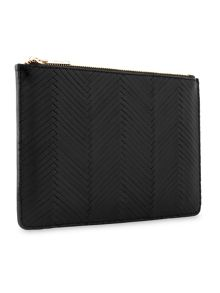 Whistles Woven Leather Small Clutch