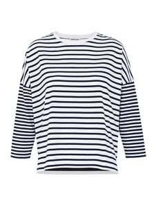Whistles Multi Stripe Jersey Top