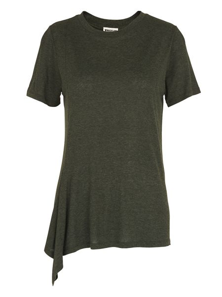 Whistles Asymmetric Hem Detail T-shirt