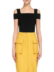 Whistles Double Strap Bardot Knit