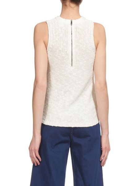 Whistles Linen Zip Back Knit Vest